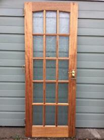 15 pane frosted glazed internal door.