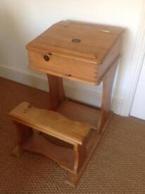 Antique pine Desk and bench