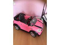 Pink mini car