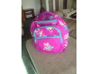 Smiggle Childs Back Pack. Pinkish Purple with Hearts