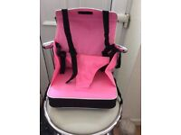 Portable childs/toddlers booster seat,pink and black