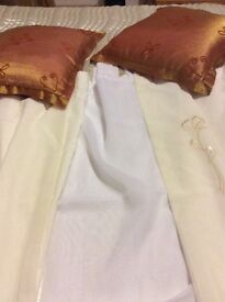 Curtains and cushions for sale