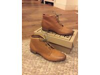 Shoe Embassy Ladies Brown Ankle Boots Size 4 *100% leather*