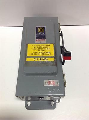 Square D 30amp 600vac 600vdc Safety Switch 40274-368-01