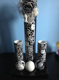 Beautiful vases and black ornament