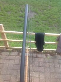 Bruce and Walker 13ft hand built carbon fibre float fishing rod, bag and tube