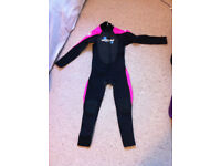 Two Bare Feet Supaflex Childrens Full Length Wetsuit (Pink) age 8