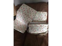 Cath Kidston Floral Change Bag with Matching Changing May and Bottle Warmer