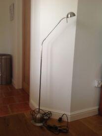 Two flexible floor lamps
