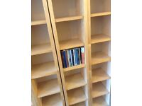 CD DVD GAMES STORAGE IKEA BILLY EXCELLENT CONDITION, FREE STANDING AND ADAPTABLE SHELVING