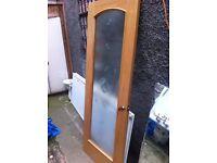 Beautiful solid wood glass panel door