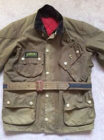 Men's Barbour international motor bike jacket