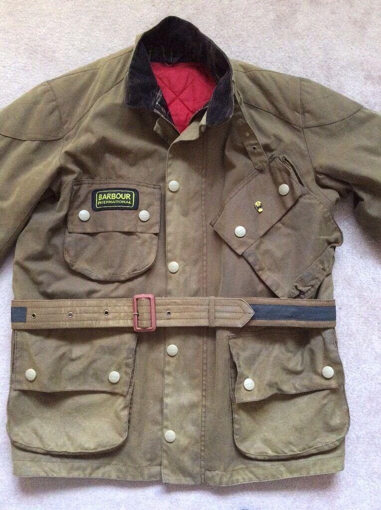 Men's Barbour international motor bike jacket