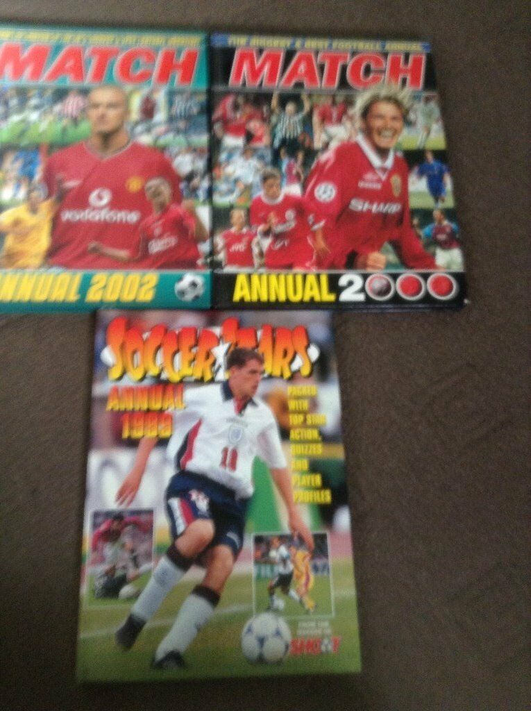 football books and magazinesin Arnold, NottinghamshireGumtree - 28 match itv sport magazines 1997 98 x1,1998 99 x5,1999 2000 x12,2000 2001 x5,2001 2002 x4 and 2002 2003 x1.shoot magazine 2000 2001 x2,2001 2002 x2,soccer stars 1998 1999 x1,motd bbc 1998 1999 x4 and match annuals 1999,2000,2002.all in good...