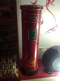 Red Post Box Style CD/DVD etc Cabinet. Slightly Retro.