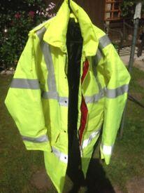 Medium Size Hi Viz Quilted Coat Slight mark on sleev