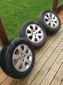 3 x Peugeot alloys wheels 15 inches