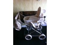Eichorn 3 in one pram and Kerri cot bed