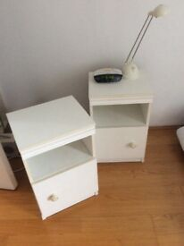 Pair of compact bedside tables