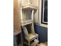 6 x Italian real leather dining chairs