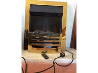 Gazco Logic Arts Brass Frame with Brass Effect Front Electric Fire