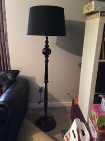 Black traditional style floor lamp from B&Q