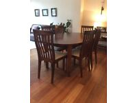 Laura Ashley Garrat Chestnut Oval Dining Table and Six Dining Chairs