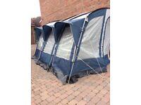 Royal 390 caravan awning in blue