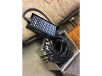 Snake XLR Multicore with 24 sends & 8 returns 50m in Steel box