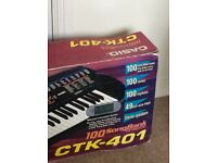 Casio CTK-401 songbank keyboard and stand