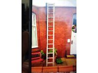 14 rung aluminium ladders good condition
