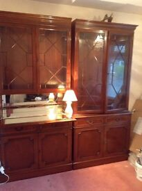 2 Dining Display Cabinets
