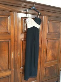 Elegant COAST Chiffon Gown - Size 8 - Black / Nude