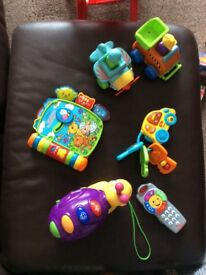 Tomy, vtech, fisher price and Asda toys