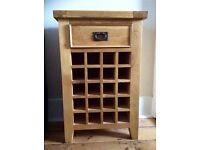 Solid oak Chiltern wine cabinet