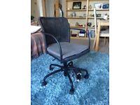 Black Gregor ikea swivel chair