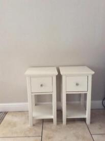 Marks and Spencer Hasting Ivory bedside tables