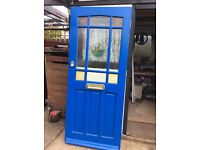 Half glazed front door free to collector size 33ins X 78ins