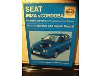 Haynes Manual For Seat Ibeza & Cordoba 93-99