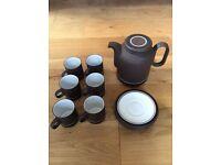 Retro Hornsea Pottery Contrast Dinner Service