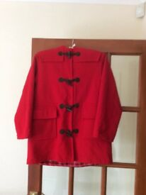 Girl's Coat. M&S duffel type red coat. Age 9-10 years. Excellent condition. £5