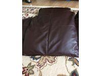 brown leather sofa cushion set (5)