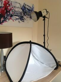 Photography lamp by BIP LIGHT and light tent