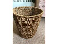 Rattan waste basket.