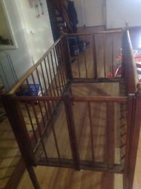 Baby antique bed