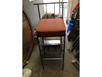 Large heavy metal bar pub stool