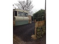 2 bed static caravan mobile home with decking