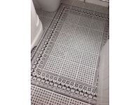 Fired Earth Black and White 'Casino' Bathroom Floor Tiles