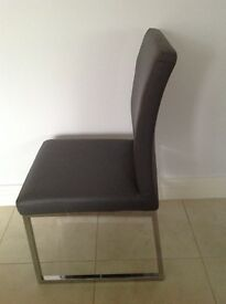 Dwell grey dining chairs for sale (6 available)