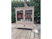 Vintage glass door bookcase / display cabinet